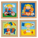 Puzzle - girls set of 4