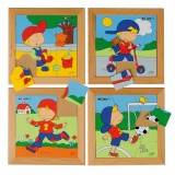 Puzzle - boys set of 4