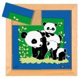 Animals puzzles - Mother and child - panda (8 pieces)