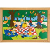 Children's activities puzzles - the picnic