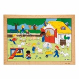 Children's activities puzzles - the farm visit