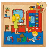 Personal hygiene puzzles - getting dressed (25 pieces)