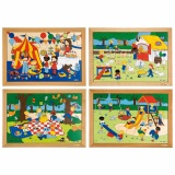 Children's activities puzzles - complete set of 4