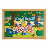 Children's activities puzzles - the playground