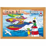 Power puzzles - Power boat race (35 pcs)
