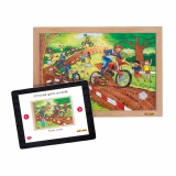 Power puzzles - Motor cross (28 pcs)