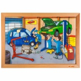 Technique puzzle - garage (24 pieces)