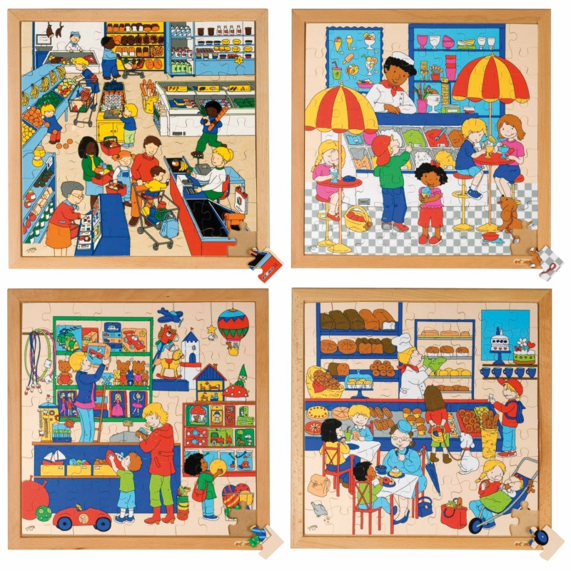 Series 81puzzles complete set of 4 montessori spirit for Table tactile 40 52 point sur40