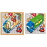 Puzzle in 2 layers - truck