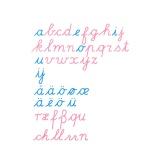 Grand alphabet mobile : version cursif international
