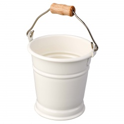 Mini seau blanc