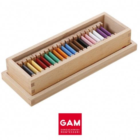 Deuxième boite des tablettes de couleur