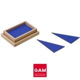 12 triangles constructeurs bleus