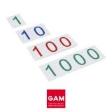 Grandes cartes des symboles en plastique : 1-1000