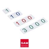 Petites cartes des symboles en plastique : 1-3000