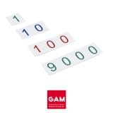 Petites cartes des symboles en plastique : 1-9000