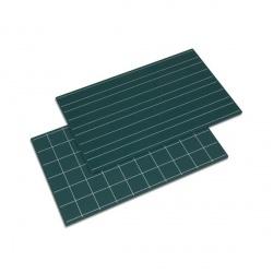 Ardoises avec doubles lignes et carreaux x2