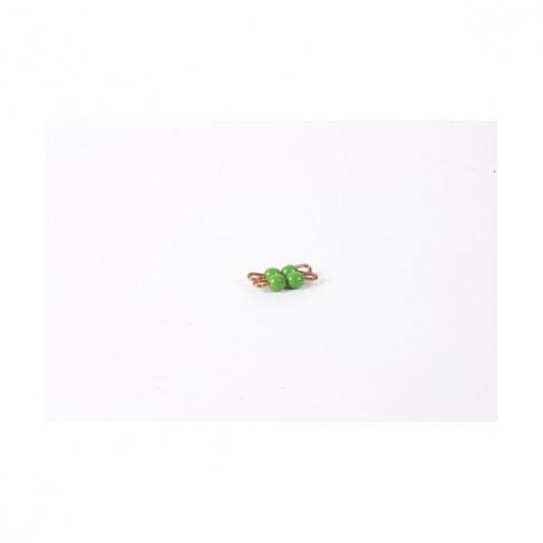 Carré de 2 en perles nylon individuelles : Vert