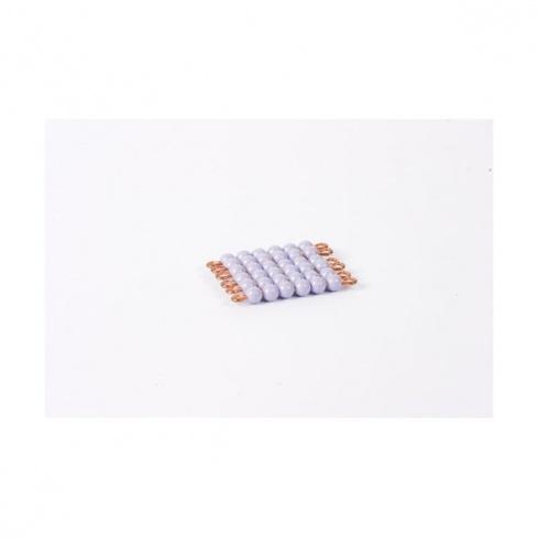 Carré de 6 en perles nylon individuelles : Violet