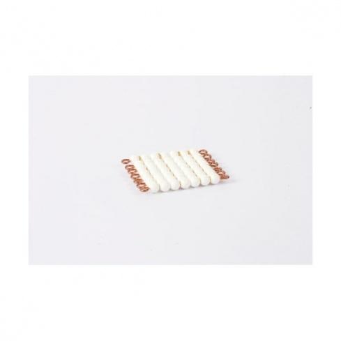Carré de 7 en perles nylon individuelles : Blanc