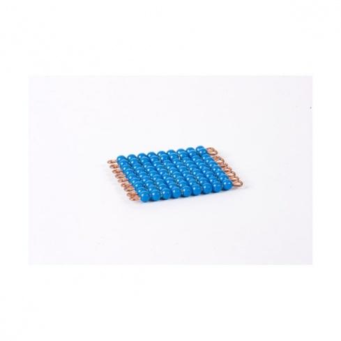 Carré de 9 en perles nylon individuelles : Bleu Foncé