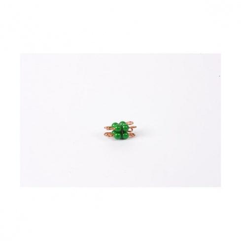 Cube de 2 en perles nylon individuelles : Vert