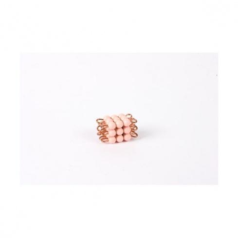 Cube de 3 en perles nylon individuelles : Rose