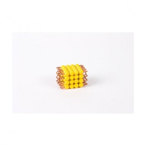 Cube de 4 en perles nylon individuelles : Jaune
