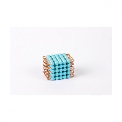 Cube de 5 en perles nylon individuelles : Bleu Clair