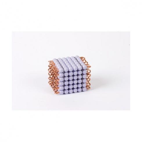 Cube de 6 en perles nylon individuelles : Violet