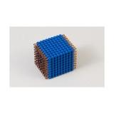 Cube de 9 en perles nylon individuelles : Bleu Foncé