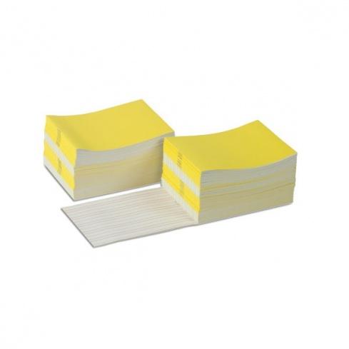 Livrets d'écriture larges jaune x 100