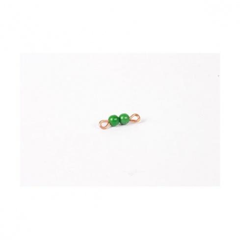 Barre de 2 en perles nylon individuelles : Vert