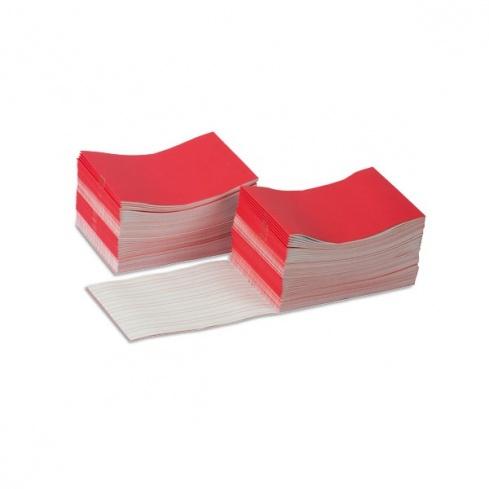 Livrets d'écriture larges rouge x 100
