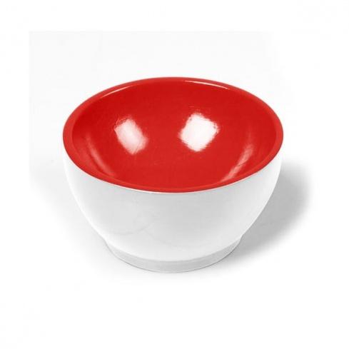 Coupelle en bois Blanc/Rouge