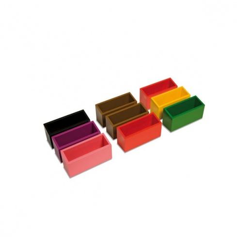Boites des commandes de grammaire colorées