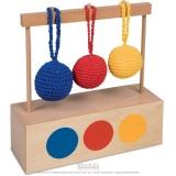 Présentoir à couleur pour 3 balles tricot