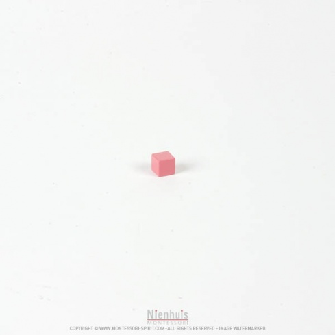 Cube tour rose 1 cm