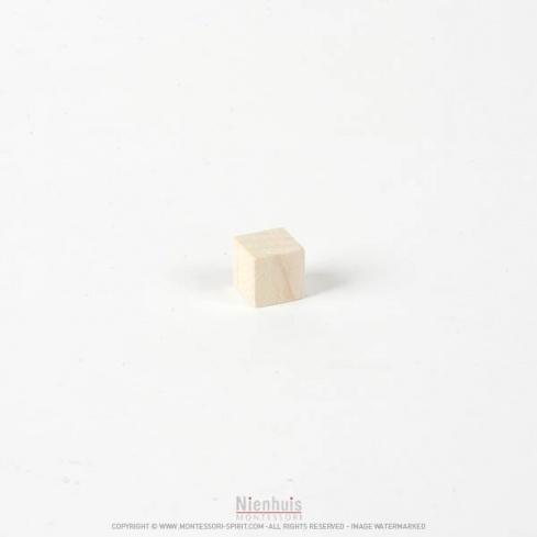 Cube naturels pour tour rose 1 cm