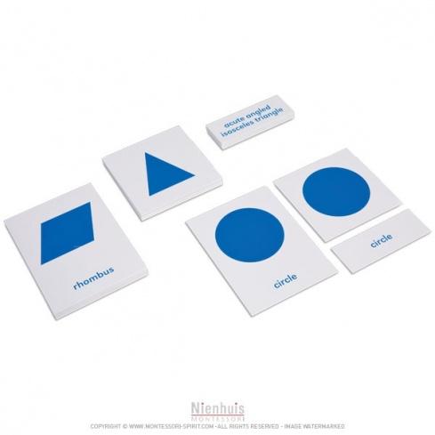Cartes de nomenclature du cabinet de géométrie en anglais