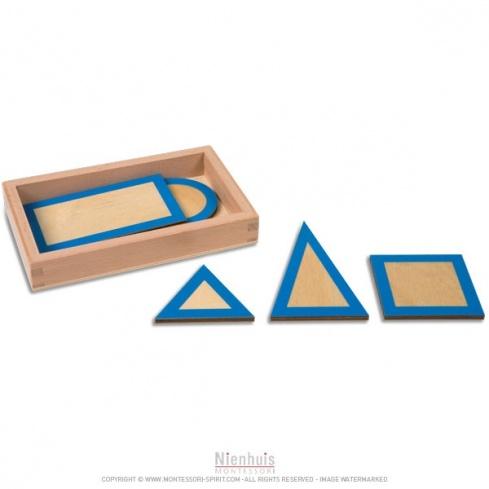 Figures géométriques planes avec boite