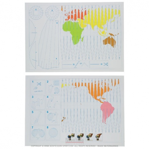 Carte de projection du globe