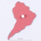 Pièce puzzle planisphère du monde : Amérique du Sud