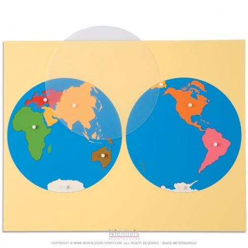 Planisphère du monde - vue de l'Asie