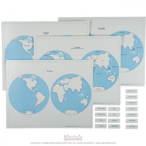 Planisphères et leur étiquettes