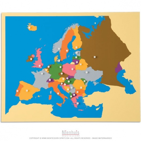 Carte puzzle de l'Europe   Montessori Spirit