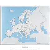 Carte de contrôle muette de l'Europe