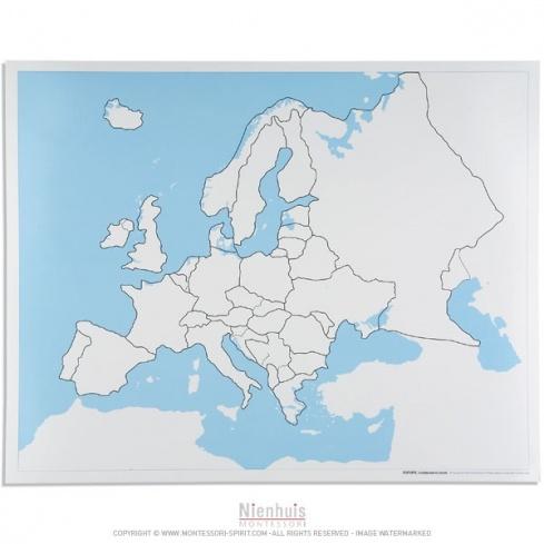 Carte De Leurope Jeux Educatifs.Carte De Controle Muette De L Europe Montessori Spirit