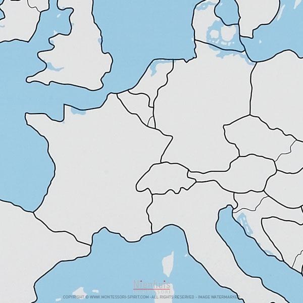 Carte Europe De Louest Vierge.Carte De Controle Muette De L Europe