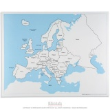 Carte de contrôle de l'Europe en anglais